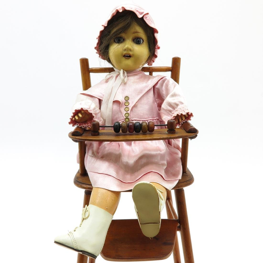 Vintage Doll in High Chair - 2