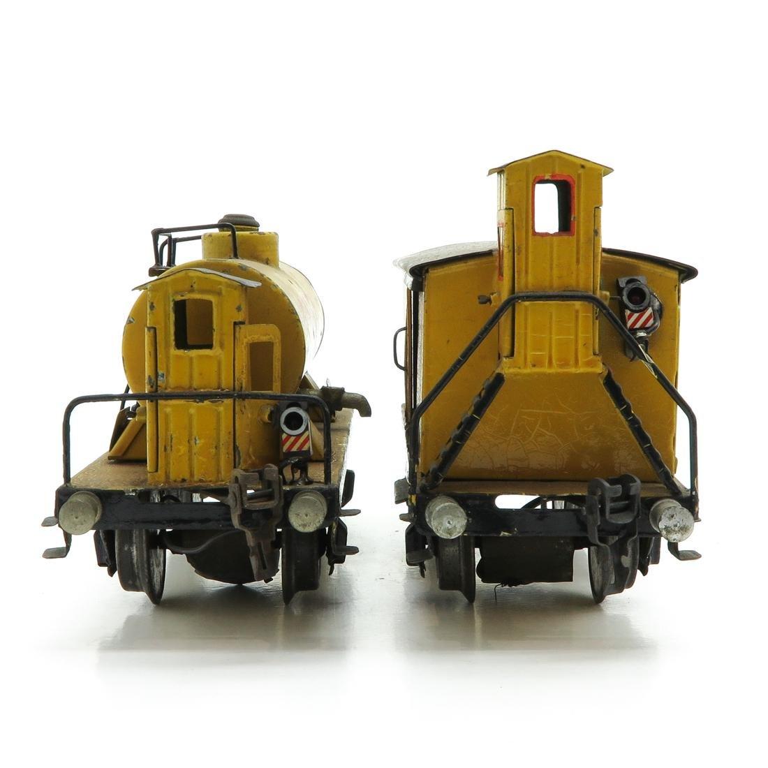 Lot of 2 Marklin Cars Including Shell Tank Wagon - 2