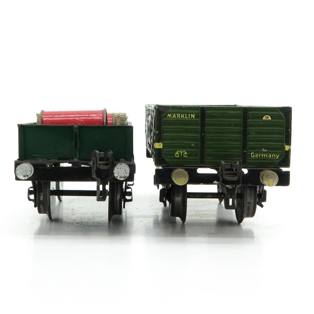 Lot of 2 Vintage Marklin Wagons - 2