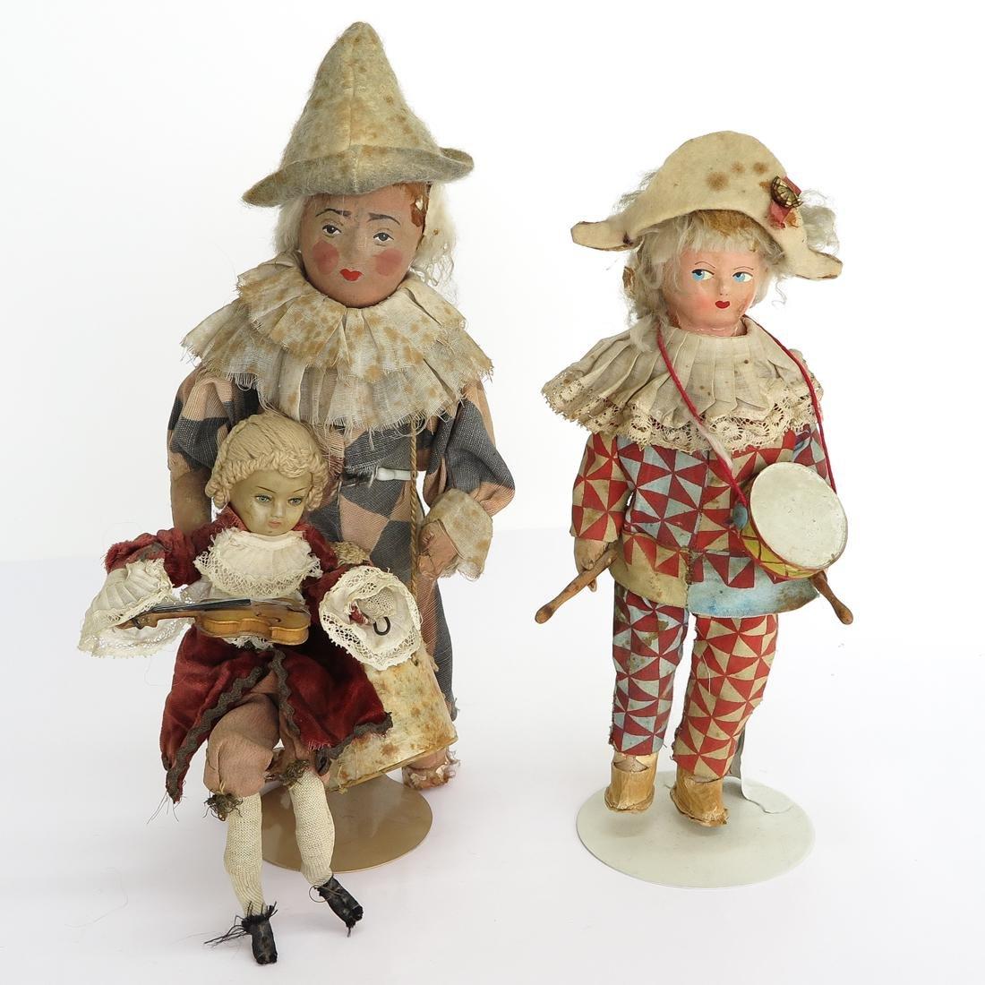 Lot of 3 Vintage Cloth Dolls