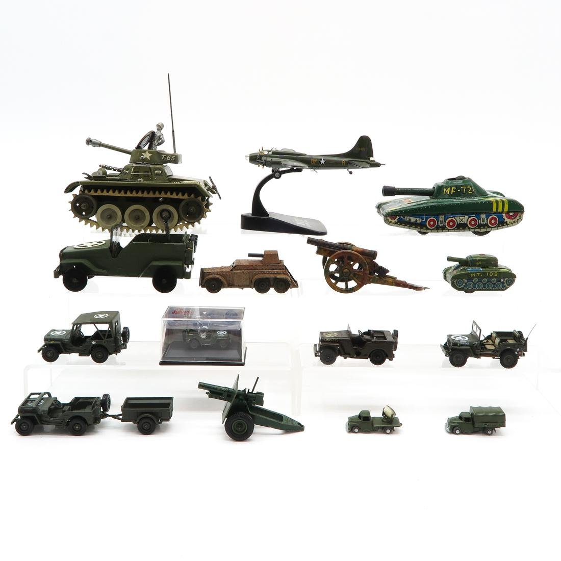 Diverse Lot of Toy Military Vehicles