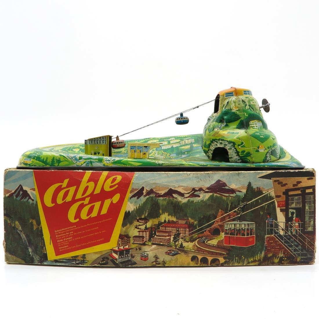 Vintage Technofix Cable Car In Box