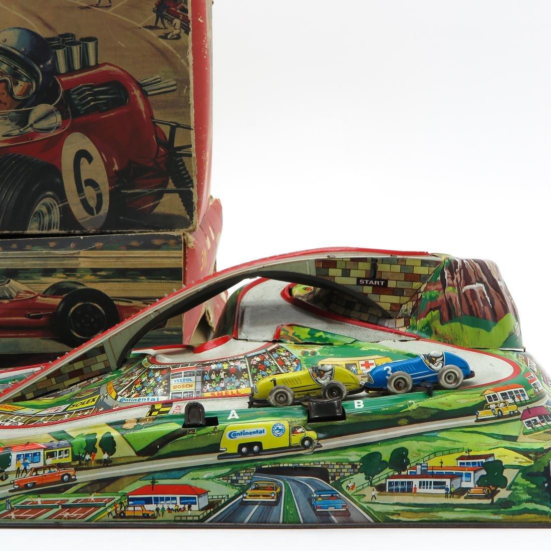 Lot of 2 Vintage Rallye 65 Tin Racetracks - 3
