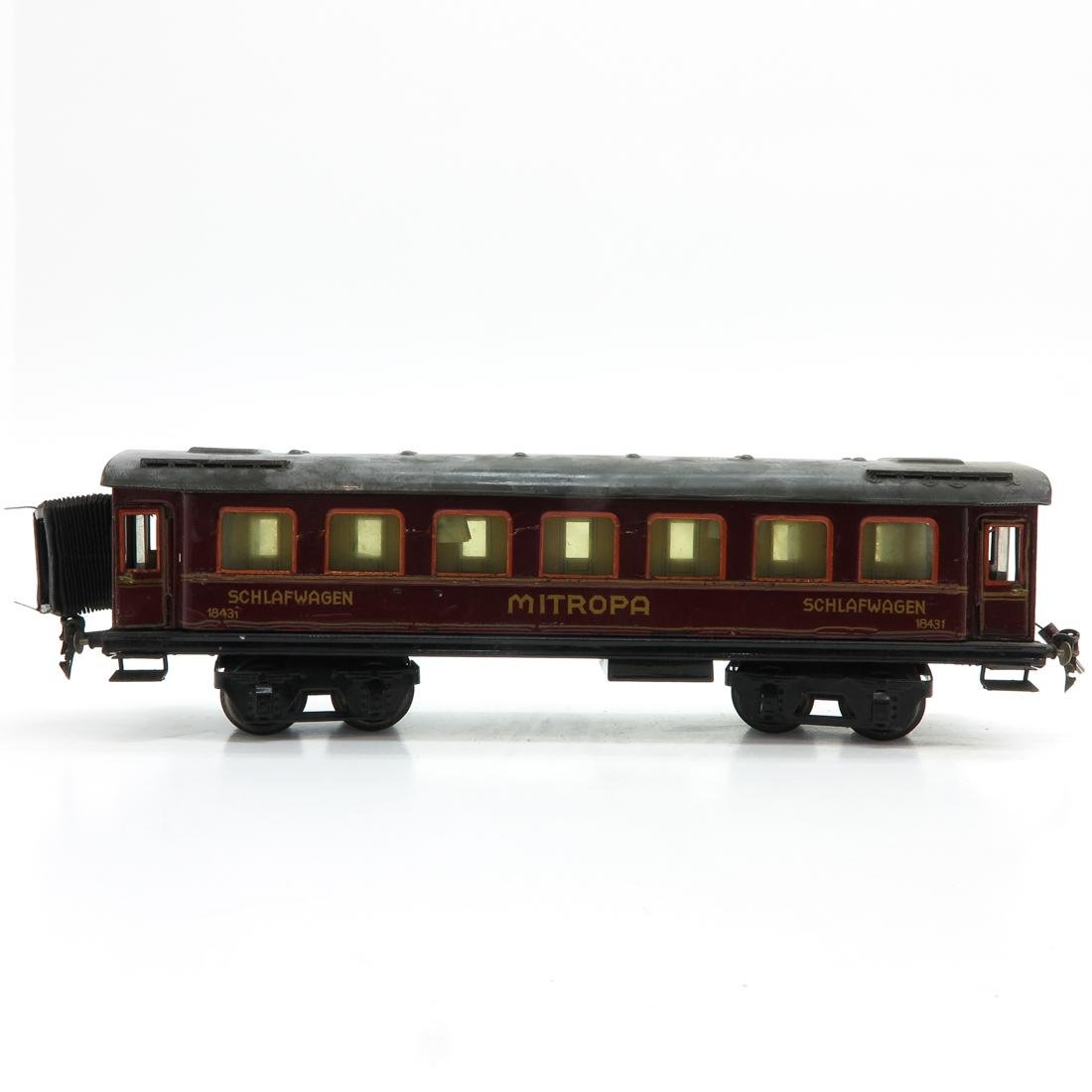 Vintage Marklin Mitropa Passenger Car