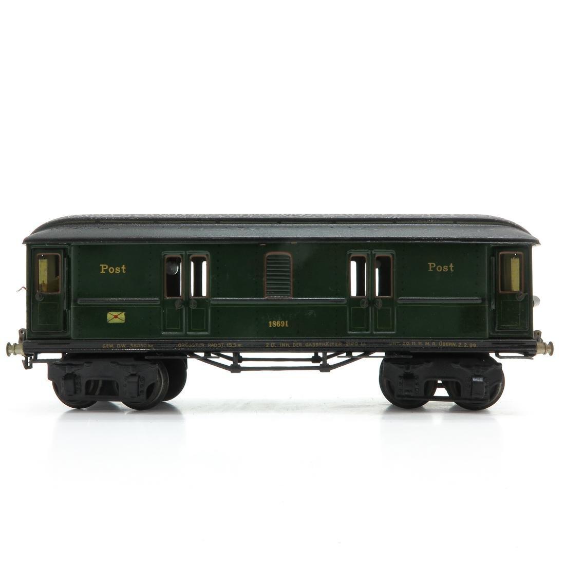 Vintage Marklin Post Wagon