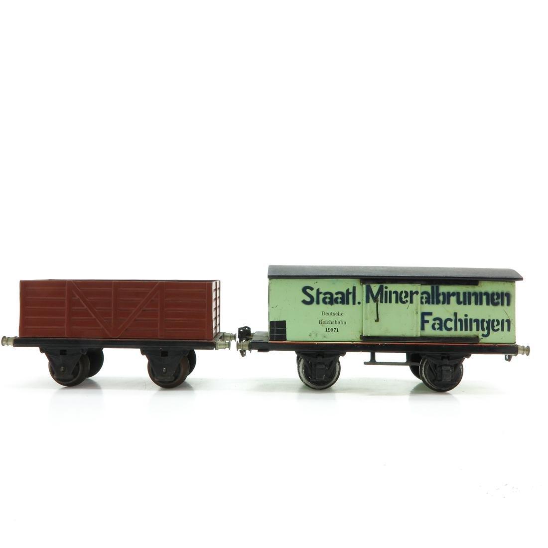Lot of 2 Vintage Marklin Wagons