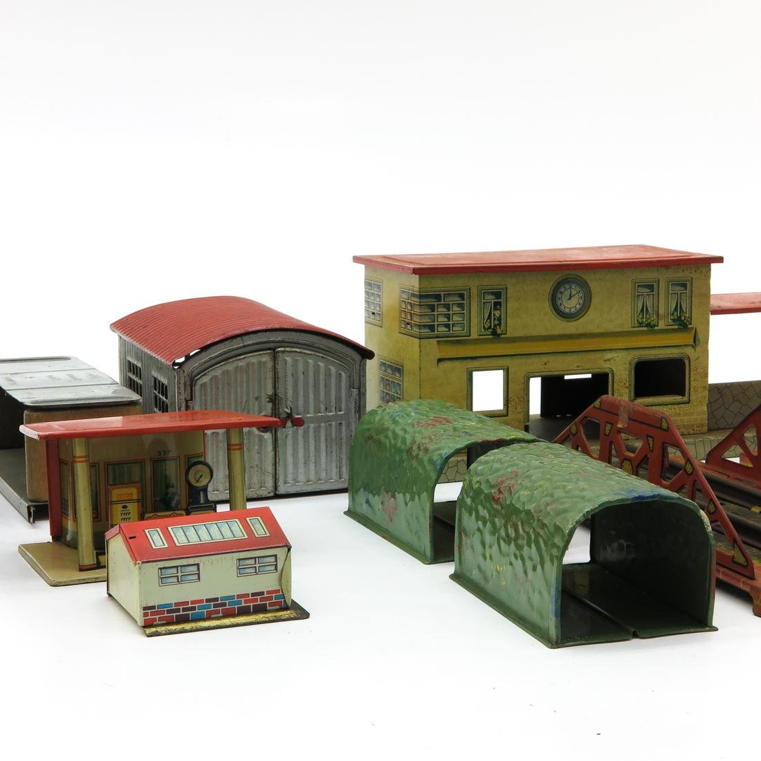 Diverse Lot of Vintage Train Station Accessories - 2