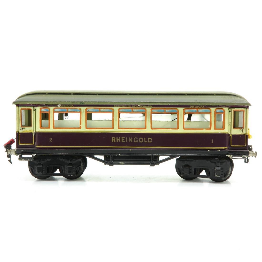 Vintage Marklin Rheingold Passenger Wagon