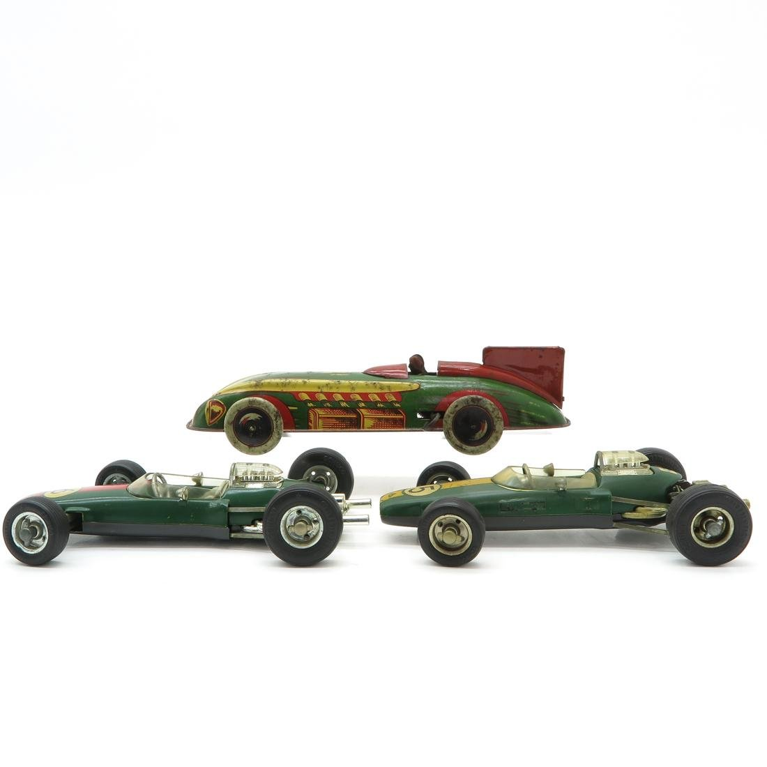 Lot of 3 Vintage Toy Racing Cars