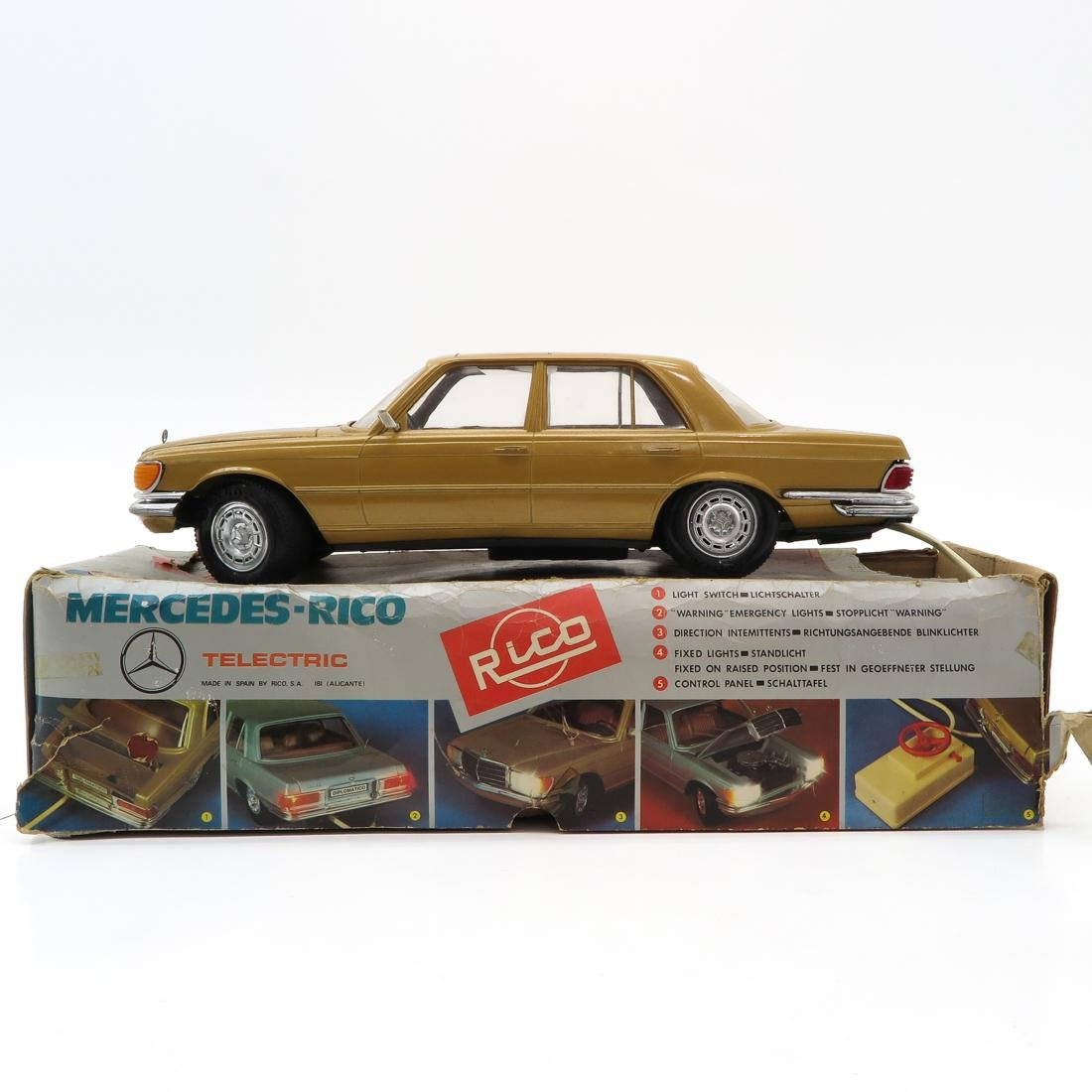 Vintage Rico Mercedes Benz Toy Car in Box