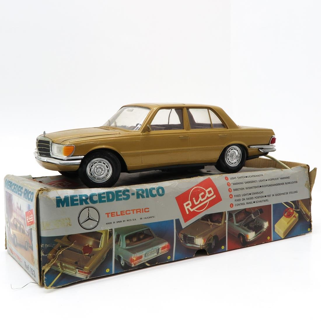 Vintage Rico Mercedes Benz Toy Car in Box - 2