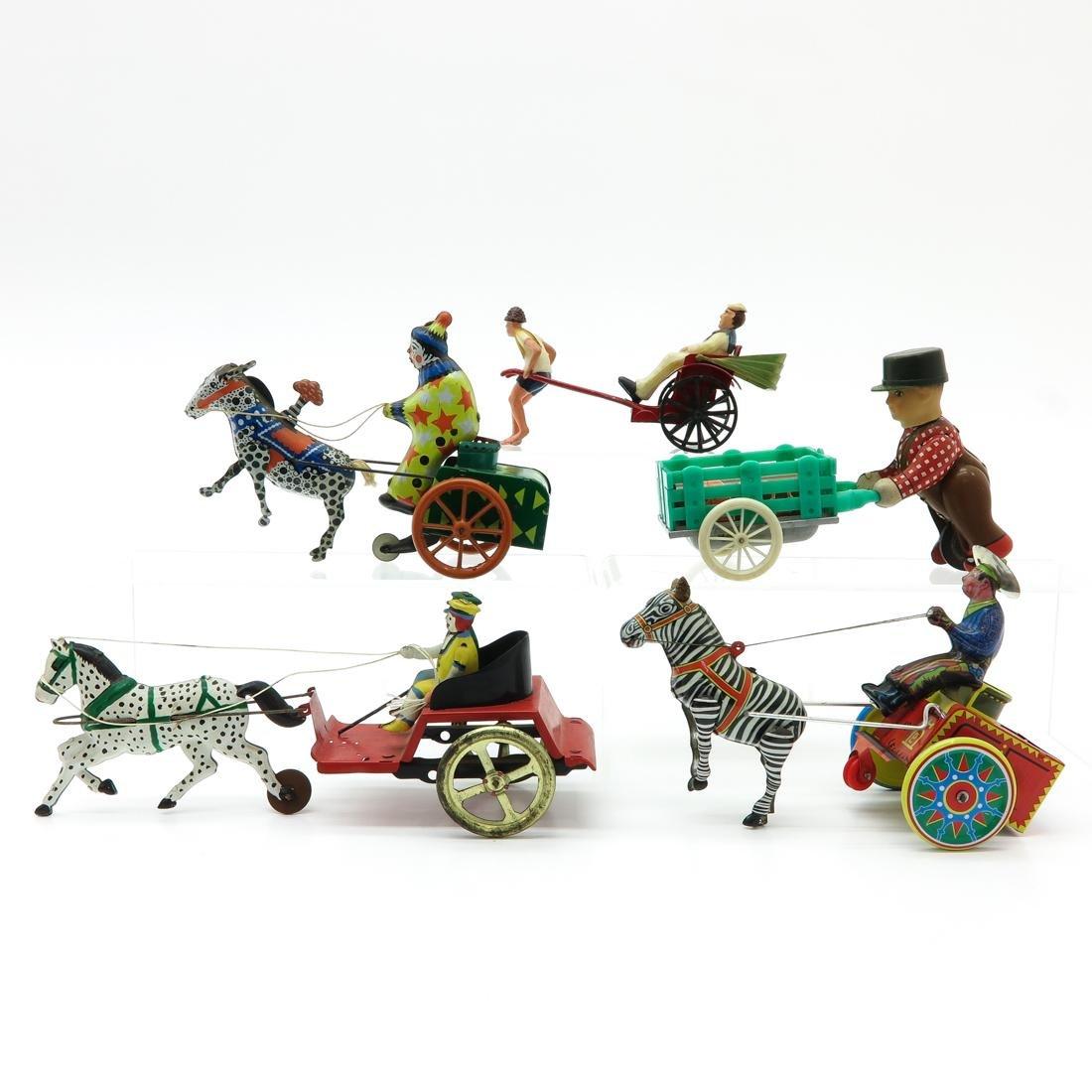 Lot of 5 Vintage Tin Toys