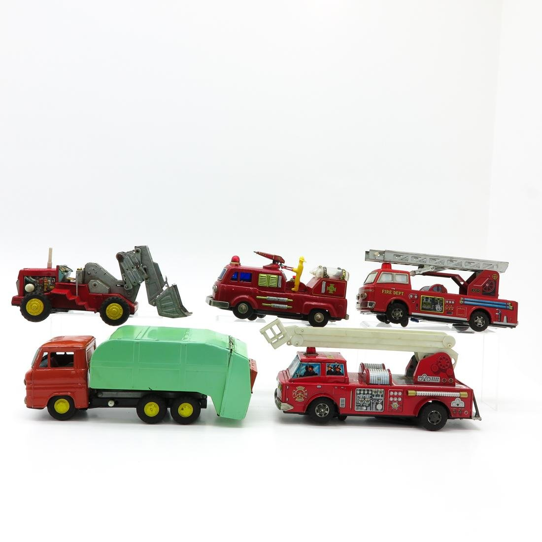 Lot of 5 Vintage Toy Trucks and Tractors