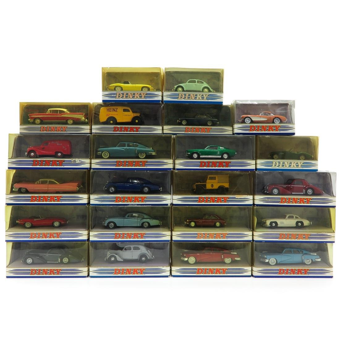 Lot of 22 Vintage Dinky Toy Cars