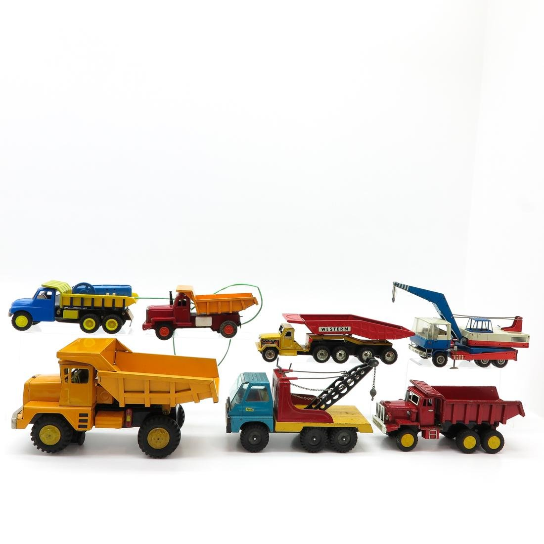 Lot of 7 Vintage Toy Trucks and Tractors