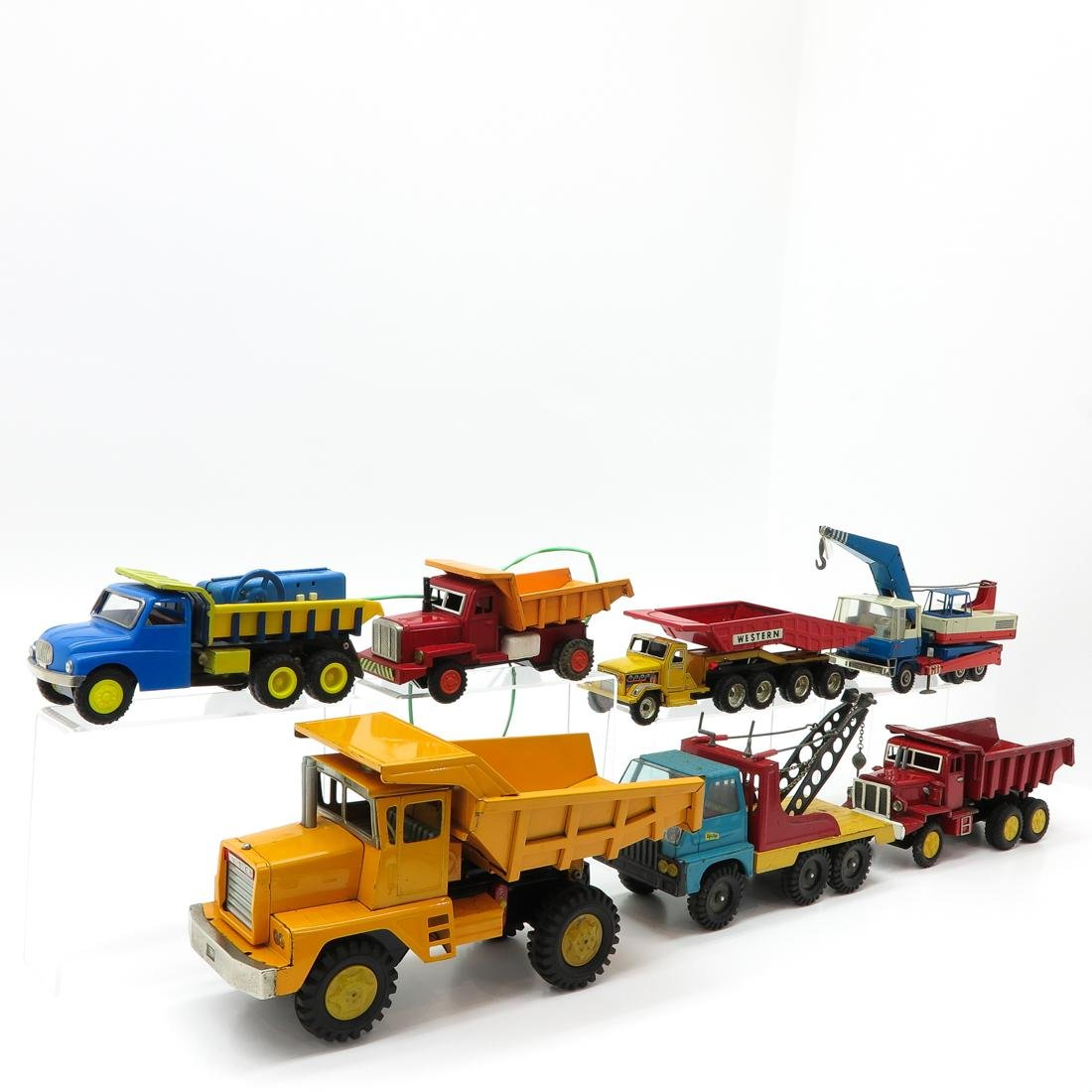 Lot of 7 Vintage Toy Trucks and Tractors - 2