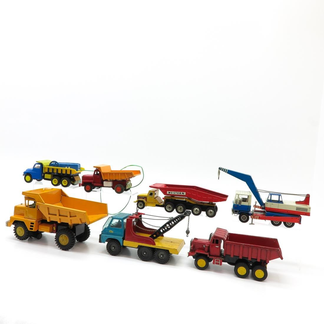 Lot of 7 Vintage Toy Trucks and Tractors - 3