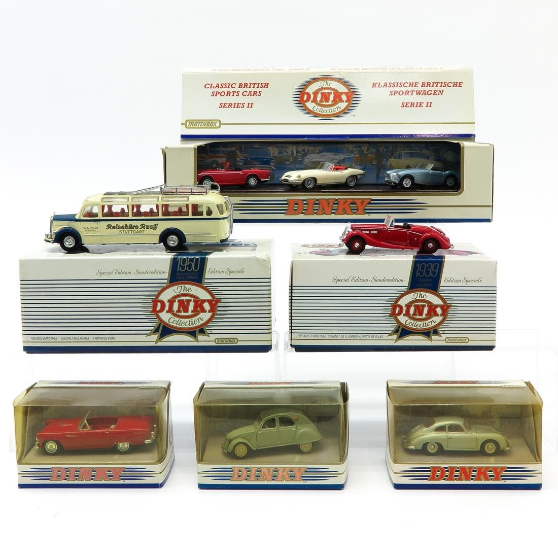 Lot of 6 Vintage Dinky Toy Cars