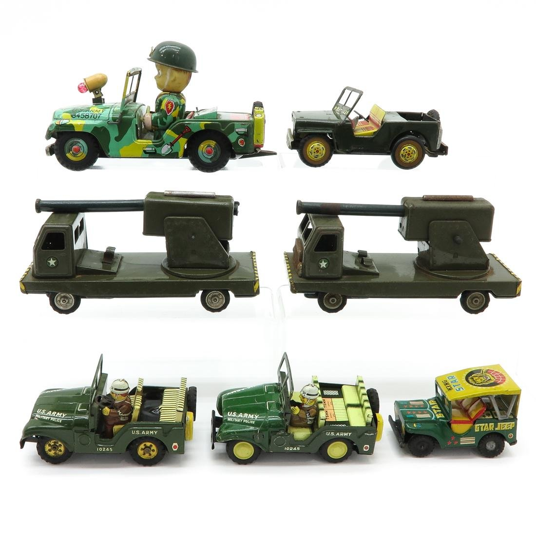Lot of  Vintage Toy Military Vehicles