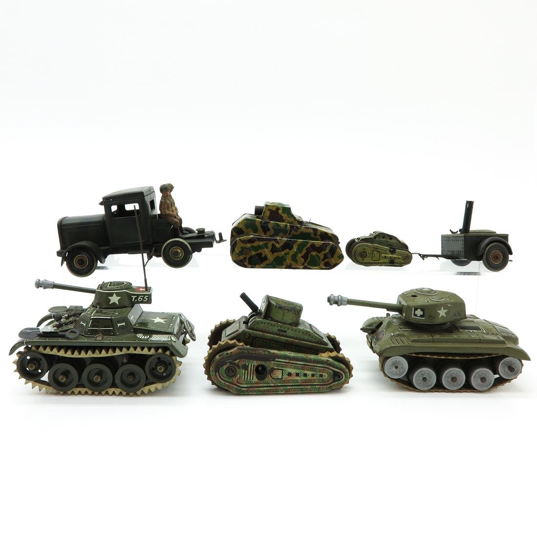 Lot of 7 Vintage Military Vehicles