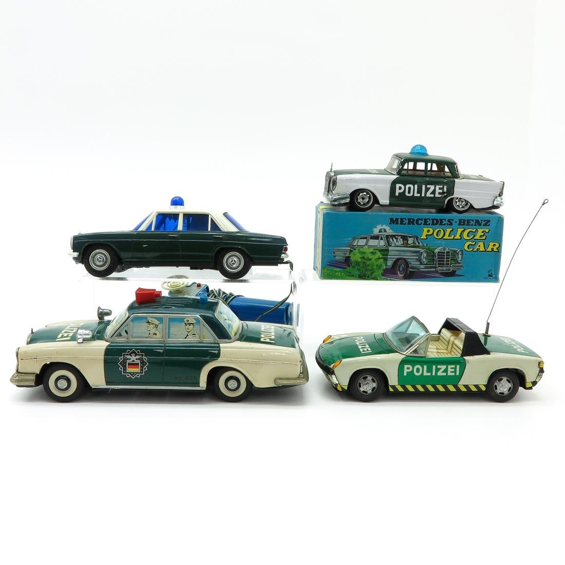 Lot of 4 Vintage Toy Police Cars