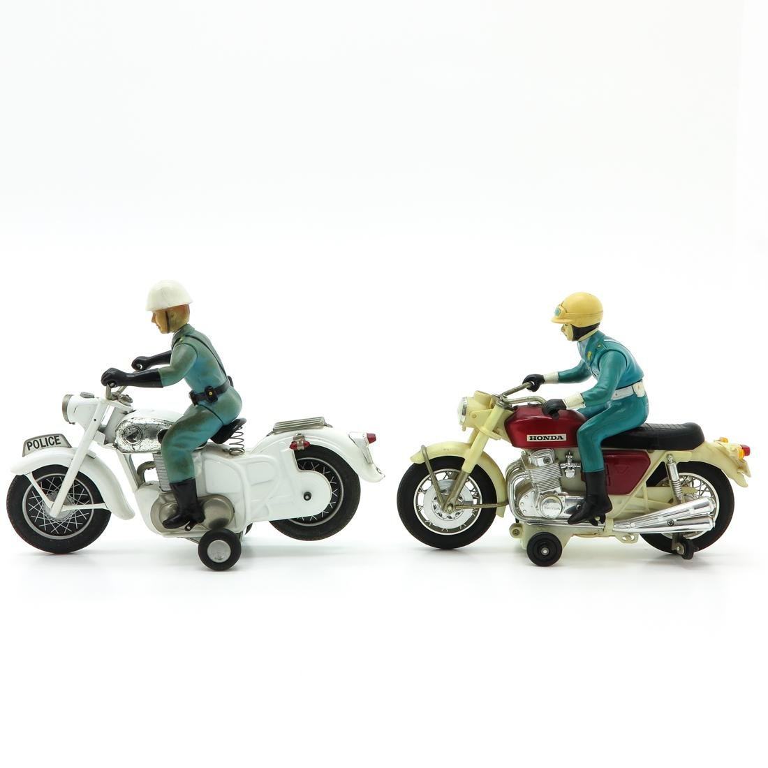 Lot of 2 Vintage Toy Motorcycles
