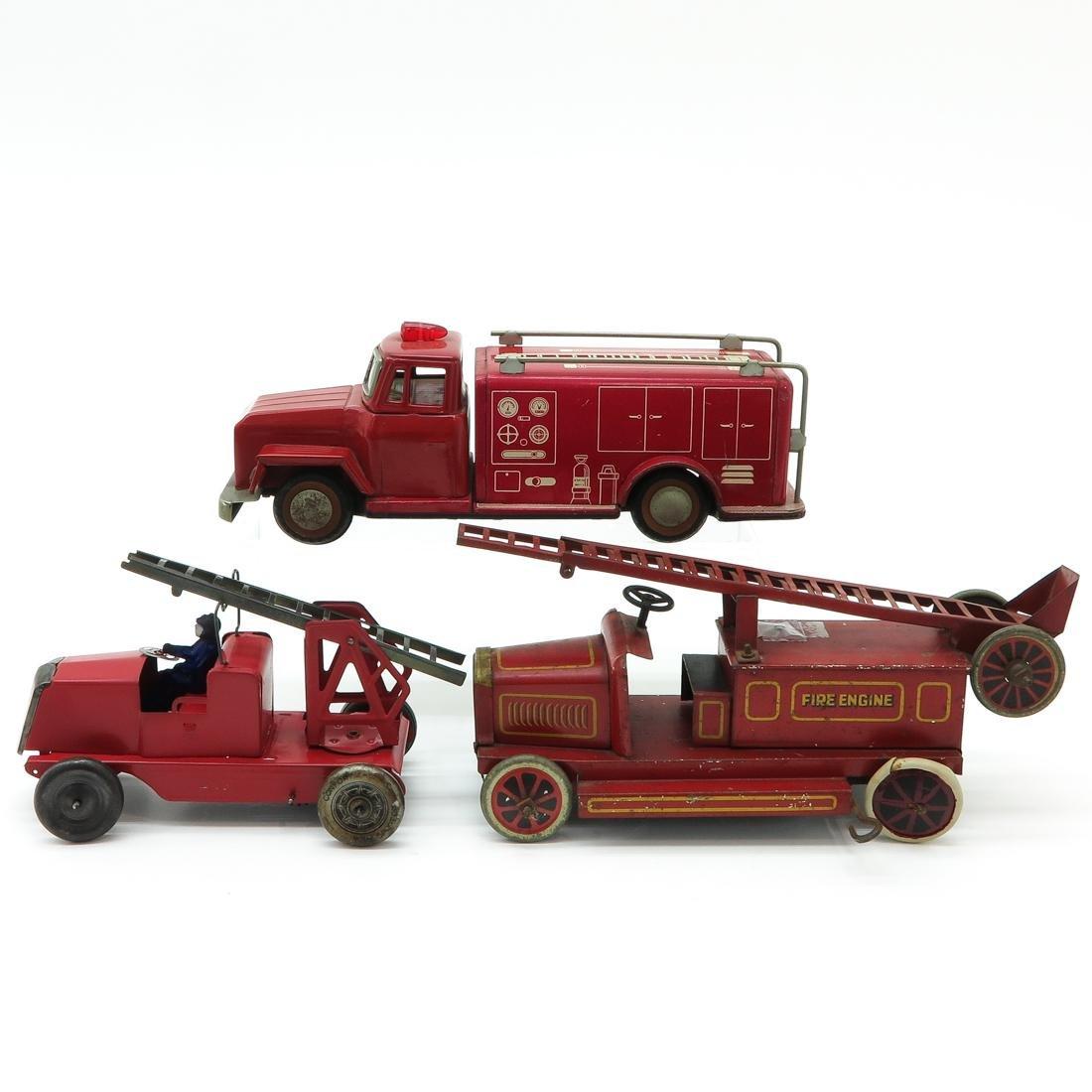 Lot of 3 Vintage Fire Trucks