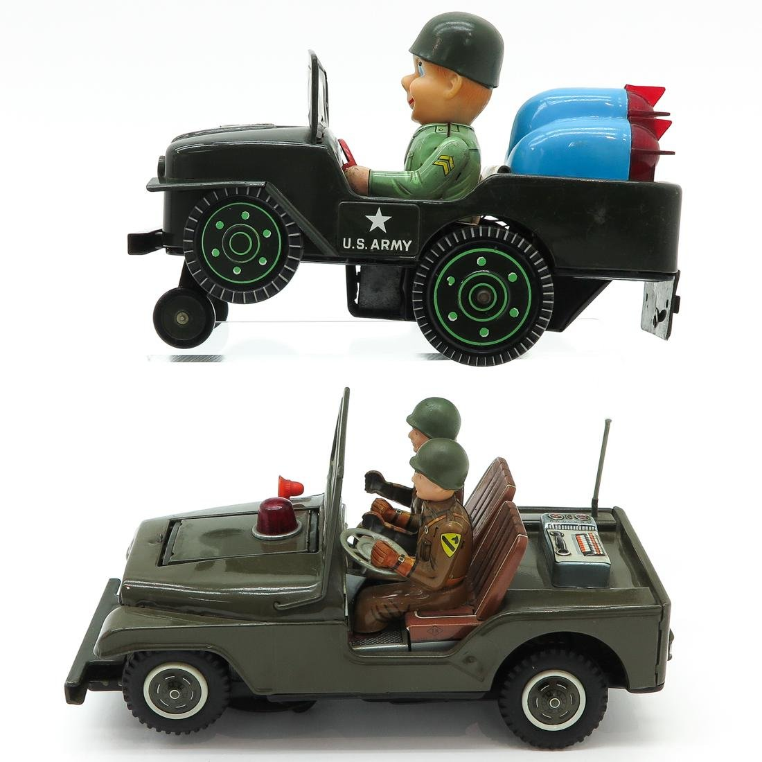 Lot of 2 Vintage Toy Military Vehicles