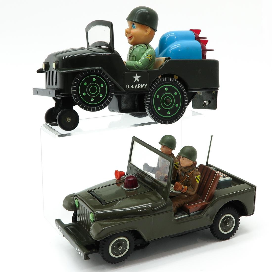 Lot of 2 Vintage Toy Military Vehicles - 2