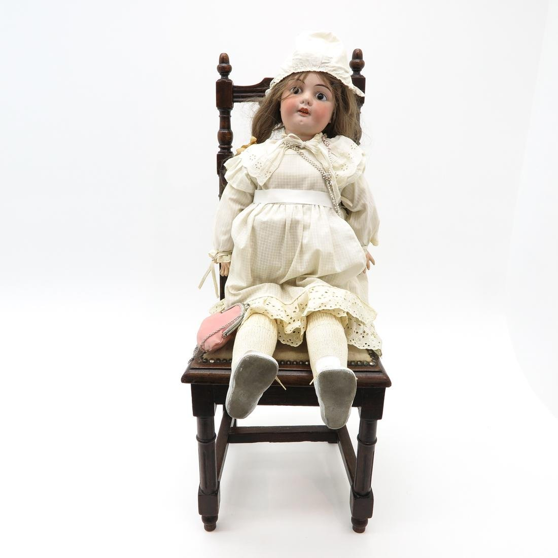 Antique Doll and Chair