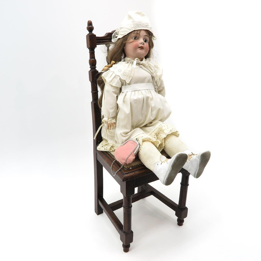 Antique Doll and Chair - 2