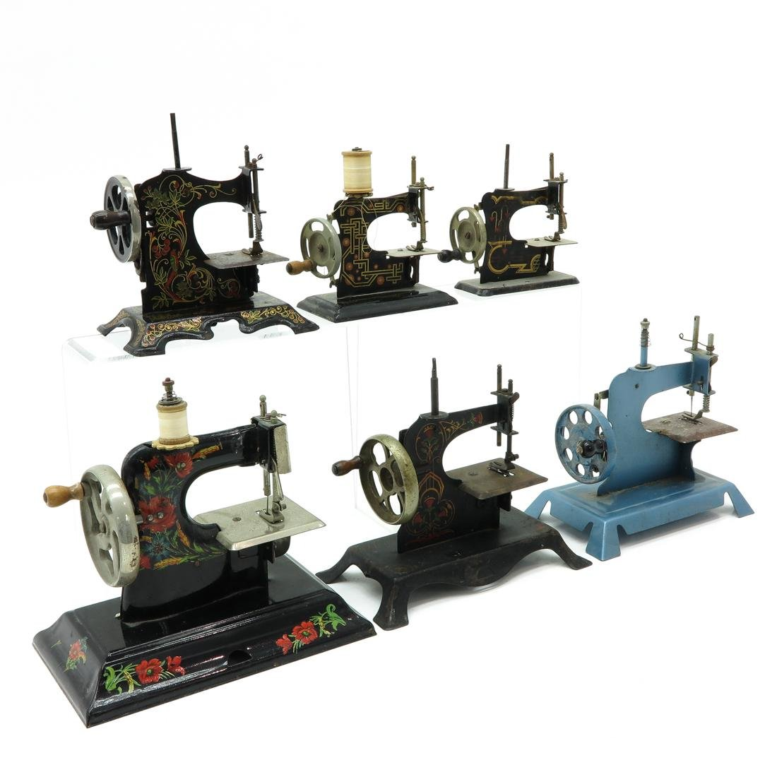 Lot of 6 Vintage Toy Sewing Machines - 2
