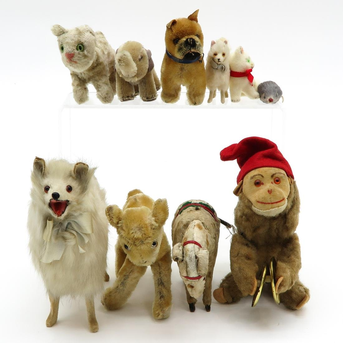 Diverse Lot of Vintage Stuffed Toys Including Steiff