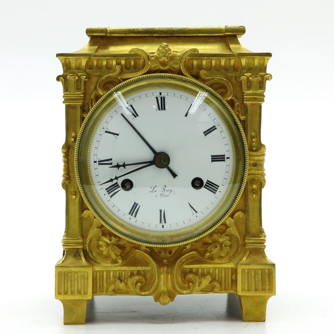French Officers Clock Circa 1830 Signed Le Roy a Paris