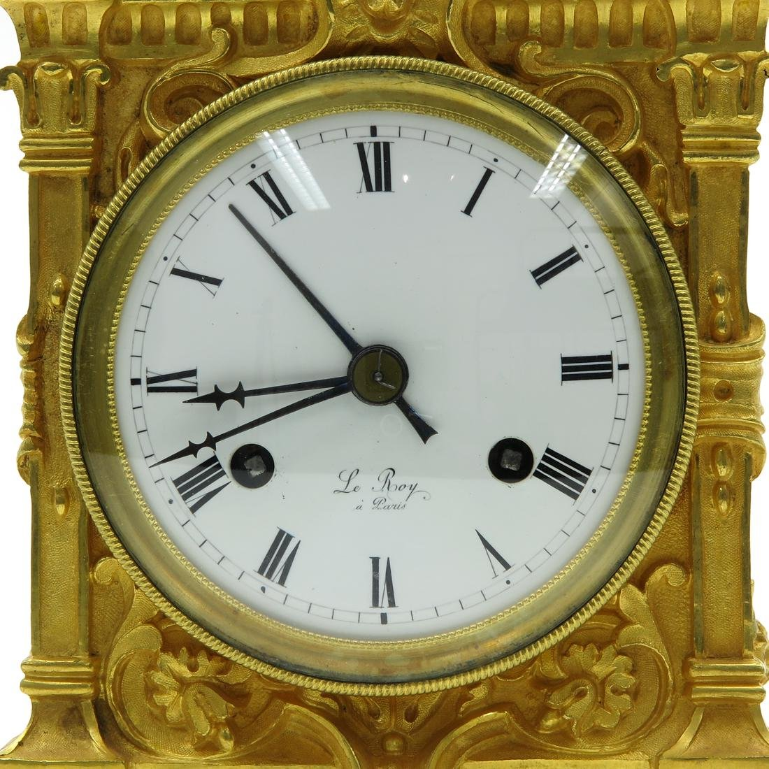 French Officers Clock Circa 1830 Signed Le Roy a Paris - 5