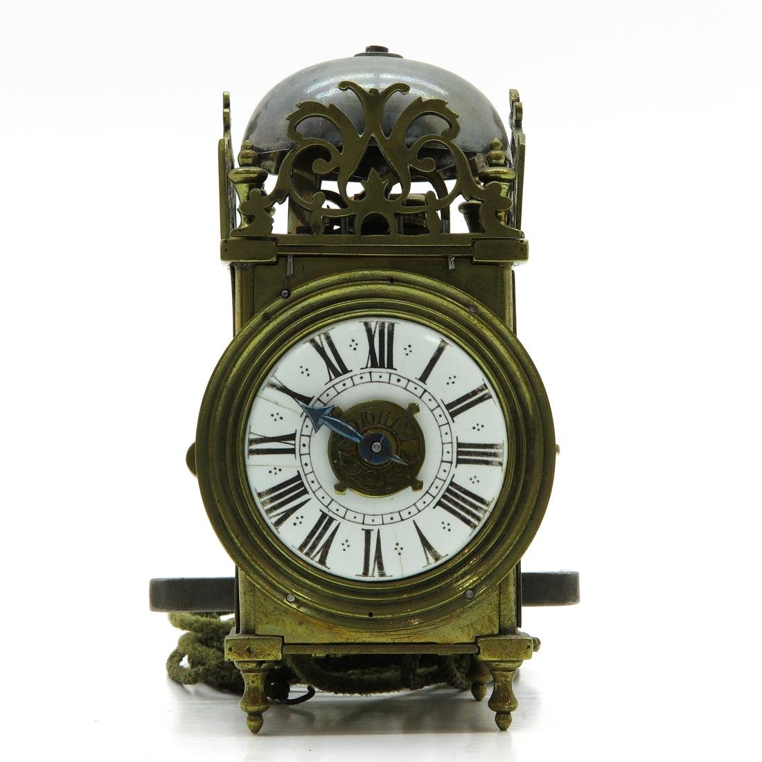 Miniature French Lantern Clock with Alarm Circa 1750