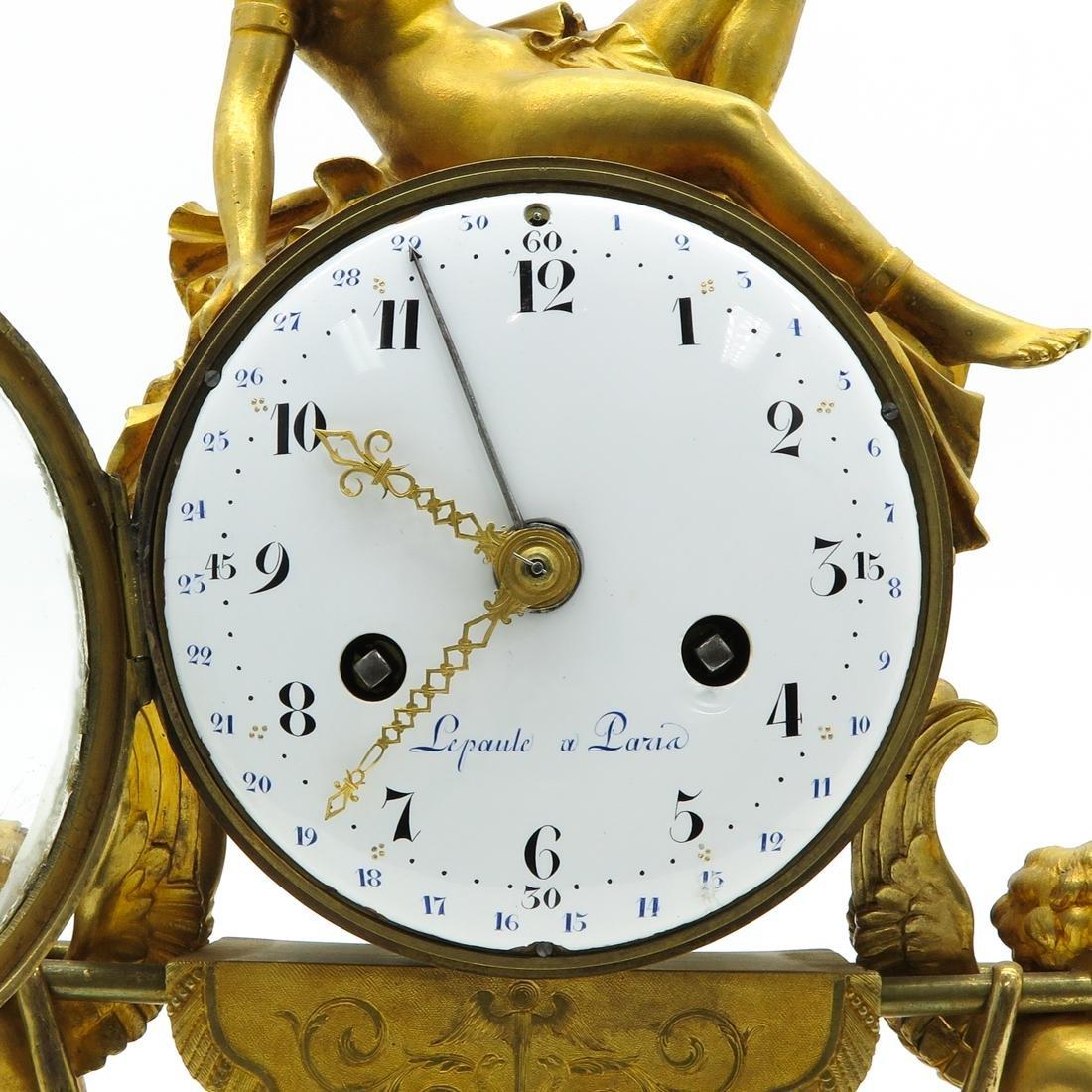 French Louis XVI Period Pendule Signed Le Poute a Paris - 6