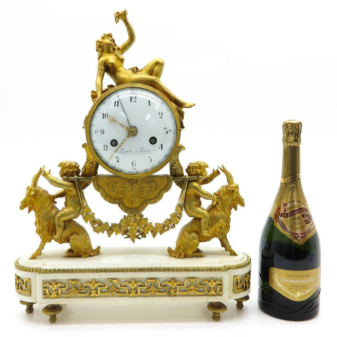 French Louis XVI Period Pendule Signed Le Poute a Paris - 7
