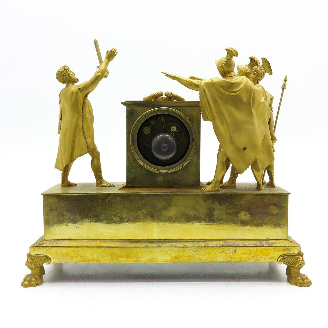 French Pendule Ca. 1800 Depicting The Oath of Horatius - 3
