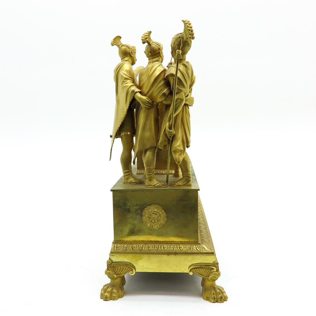 French Pendule Ca. 1800 Depicting The Oath of Horatius - 4