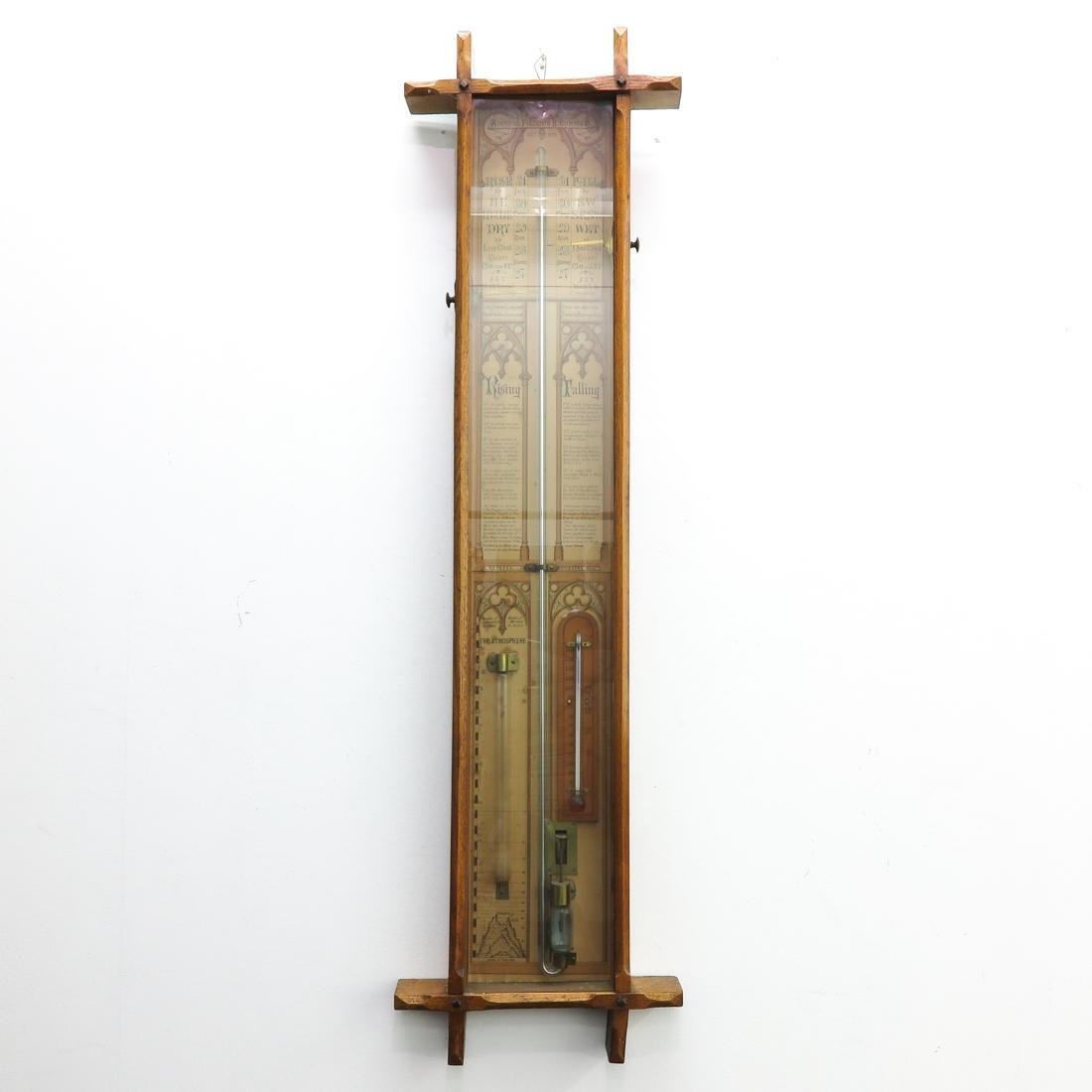 19th Century Admiral Fitzroys English Barometer
