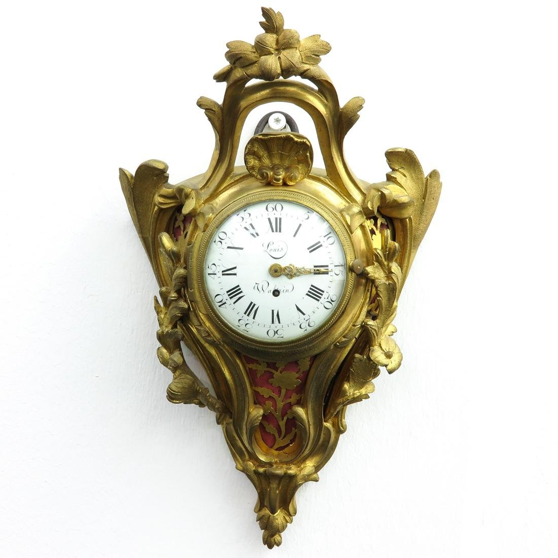 French Cartel Clock Circa 1750 Signed Louis Waltrin