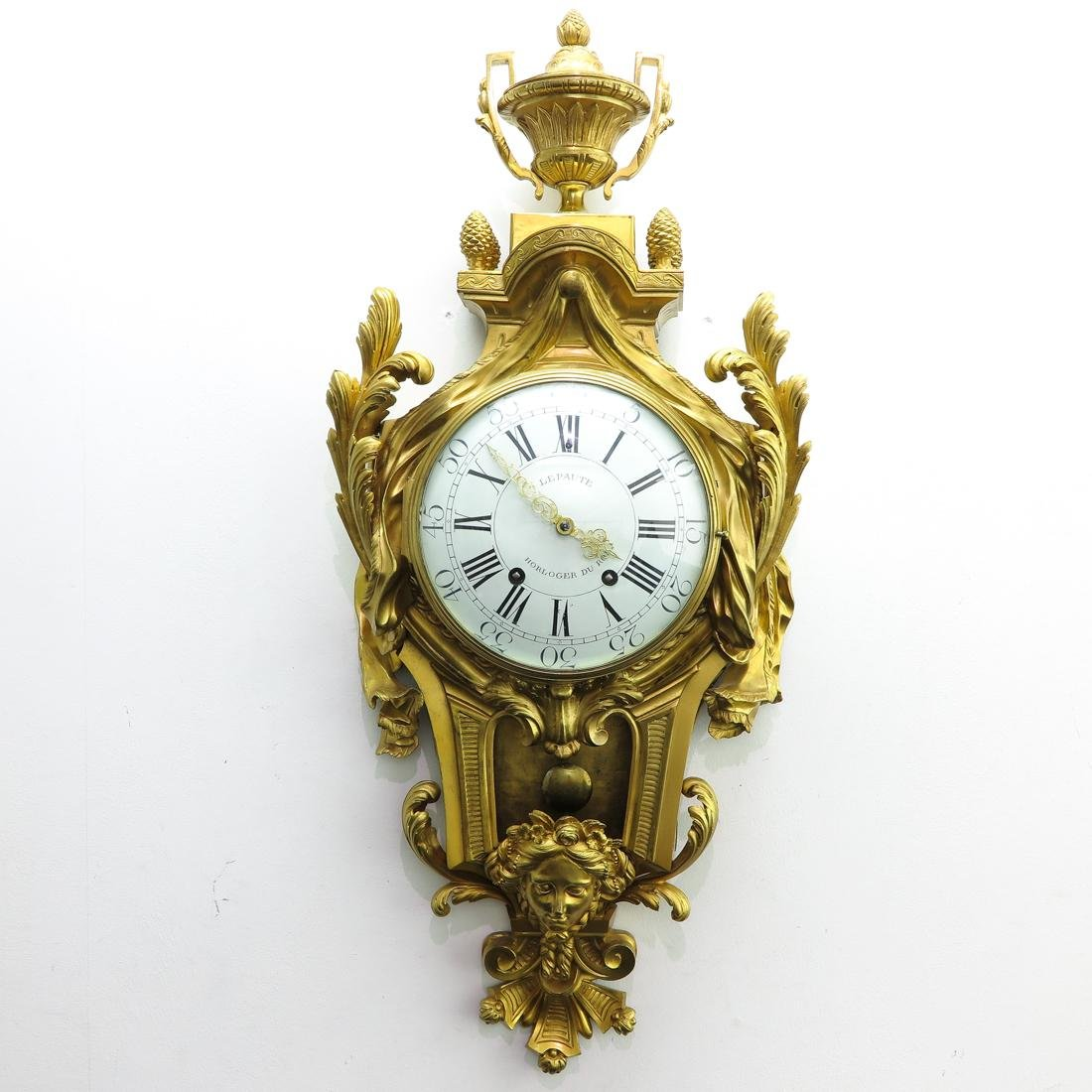 French Cartel Clock Signed Lepaute Horloger du Roi