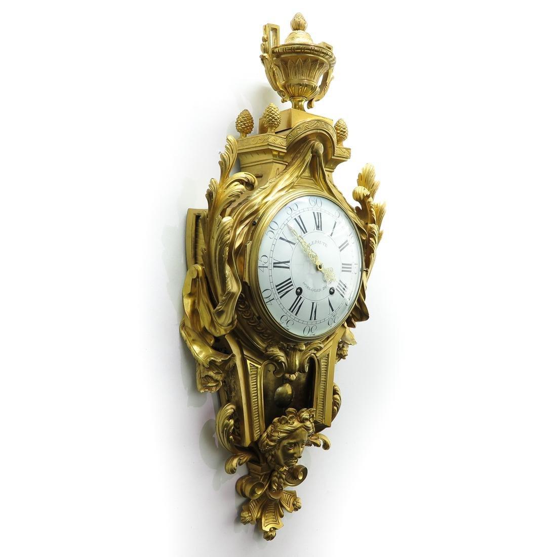 French Cartel Clock Signed Lepaute Horloger du Roi - 2