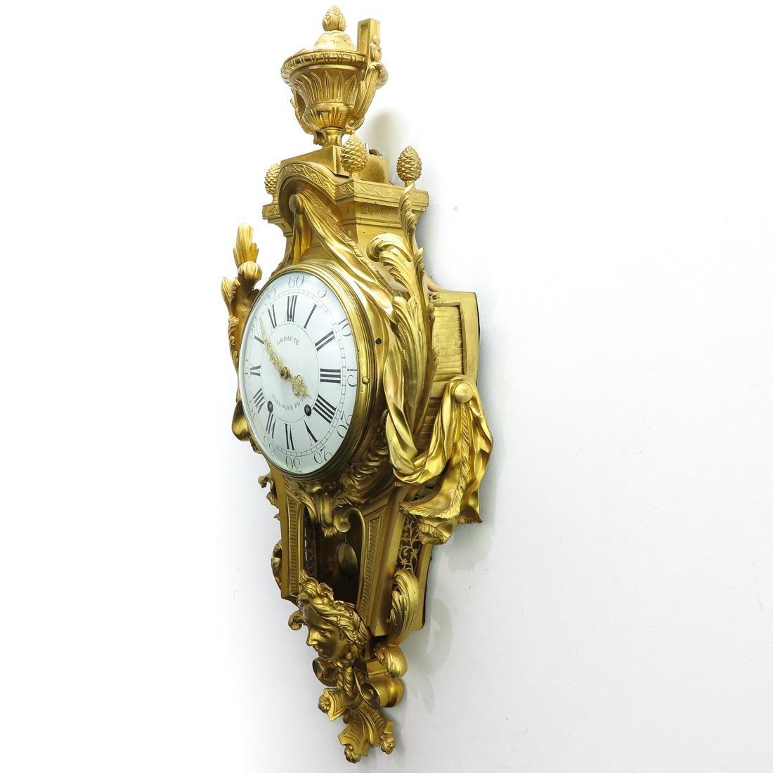 French Cartel Clock Signed Lepaute Horloger du Roi - 3