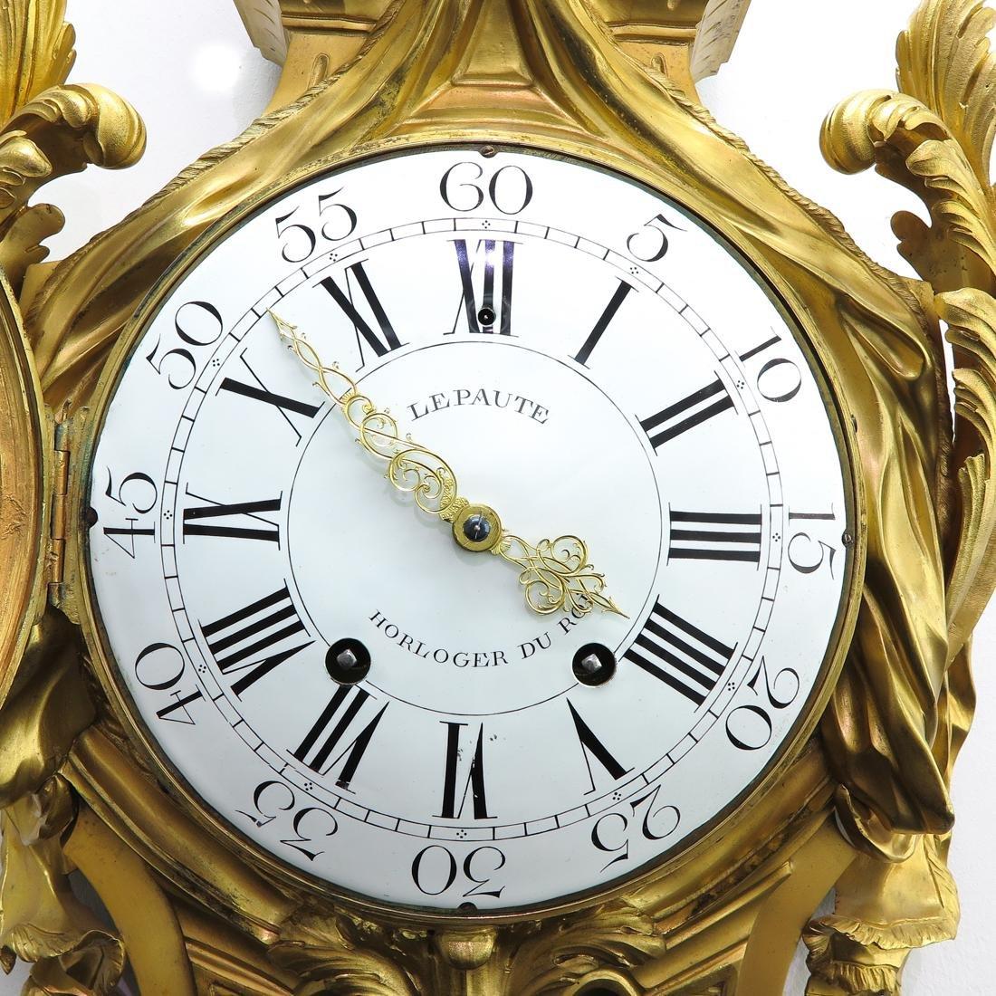 French Cartel Clock Signed Lepaute Horloger du Roi - 4