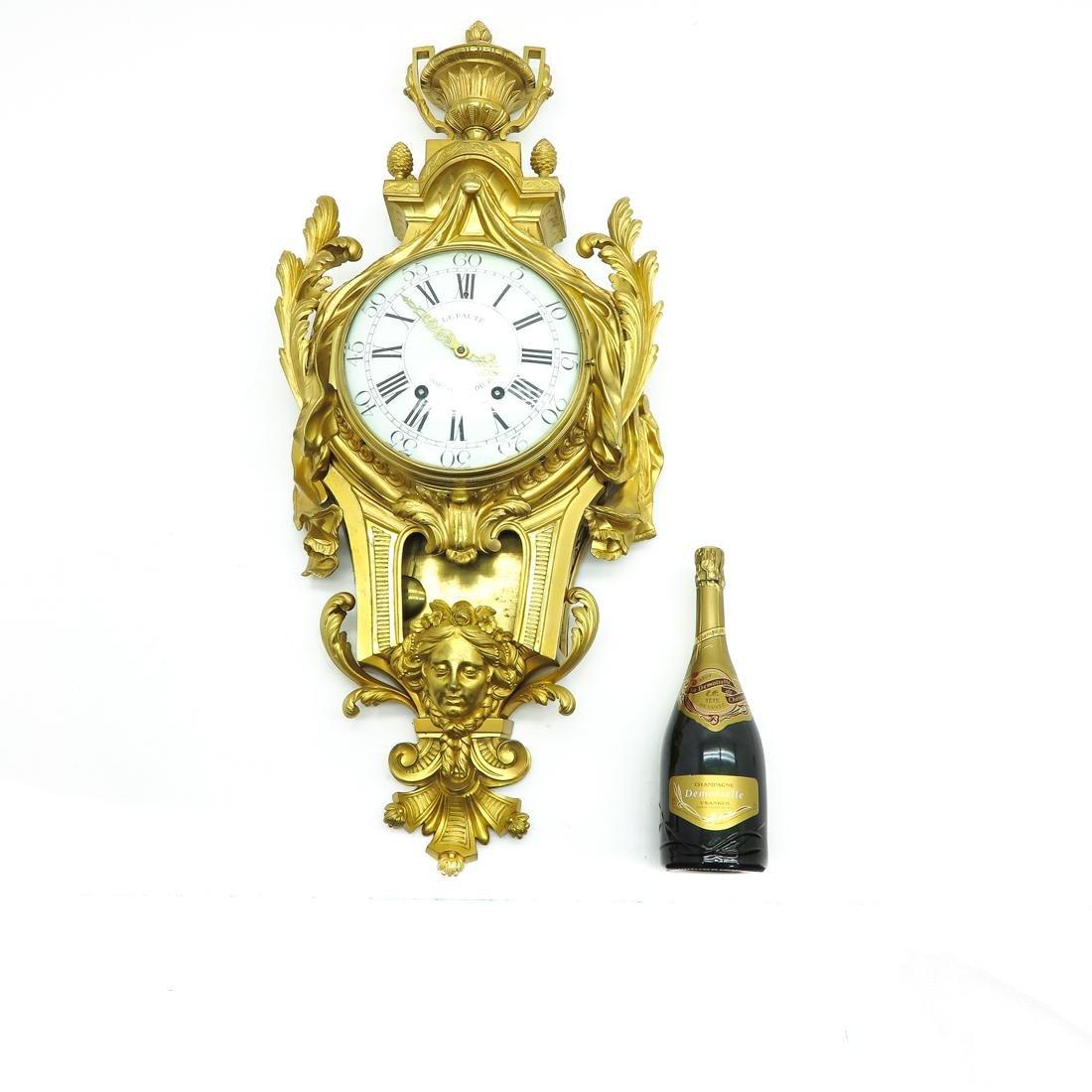 French Cartel Clock Signed Lepaute Horloger du Roi - 5