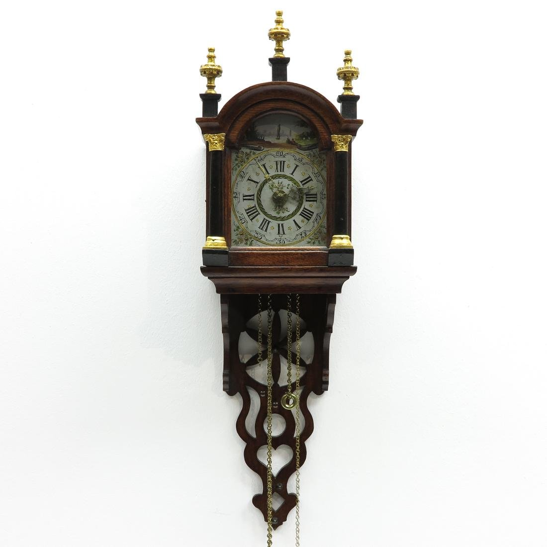 19th Century Dutch Schippertje Wall Clock