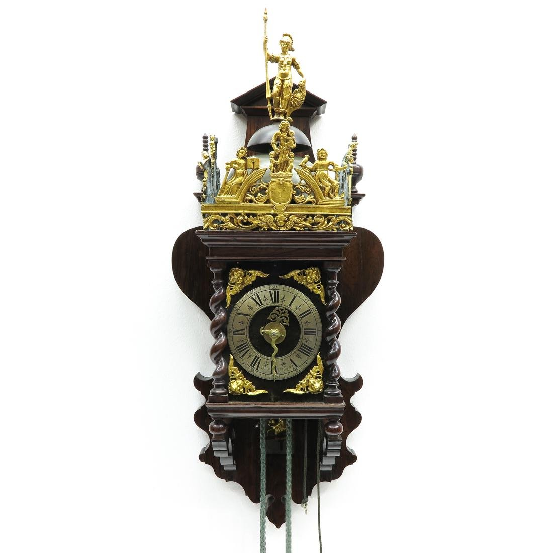 Signed Dutch Wall Clock or Zaanse Clock Circa 1740