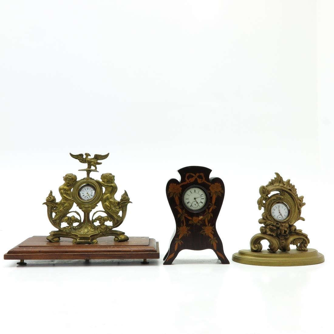 Lot of 3 Pocket Watches with Figural Holders